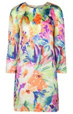 Floral Printed silk dress
