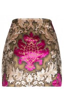 Gold printed baroque skirt