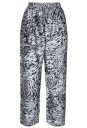 Animal Printed Silk Trousers