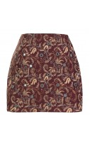 Embroidered Ethnic print skirt