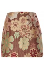 Embroidered Jacquard Floral pattern Skirt