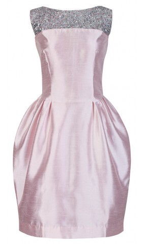 Beaded Pink Tulip Dress