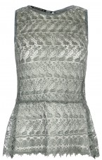 Grey Lace peplum top