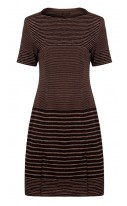 Wool Stripe Shift Dress