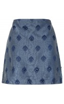 Jacquard Embroidered mini skirt