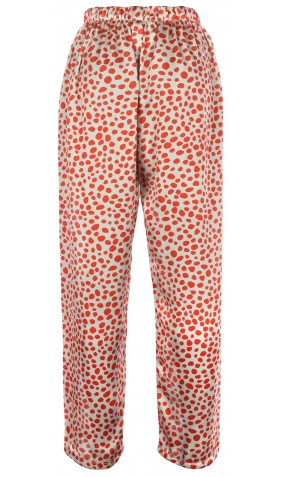 Printed Pure Silk Trousers