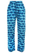 Tye Dye Blue & Aqua Printed trousers