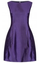 Purple Silk Tulip Dress