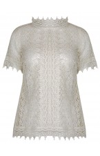 Victorian Ivory Crochet Blouse