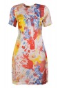 Abstract Printed Silk Dress