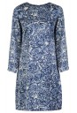Ceramic Print silk dress