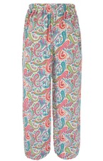 Paisley Print Loose Palazzo trousers