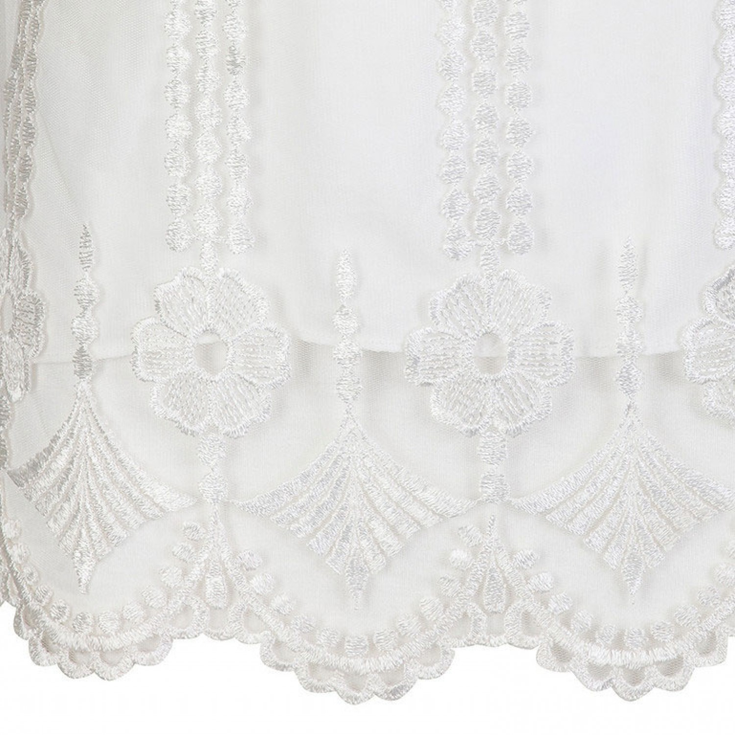 41af1534000304 Sleeveless White Embroidered Lace Top; Sleeveless White Embroidered Lace Top
