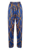 Sailor Print silk trousers