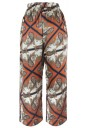 Pure Silk Scarf Print trousers