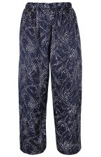 Pure silk splash print trousers