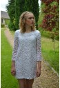 White embroidered Crochet Dress
