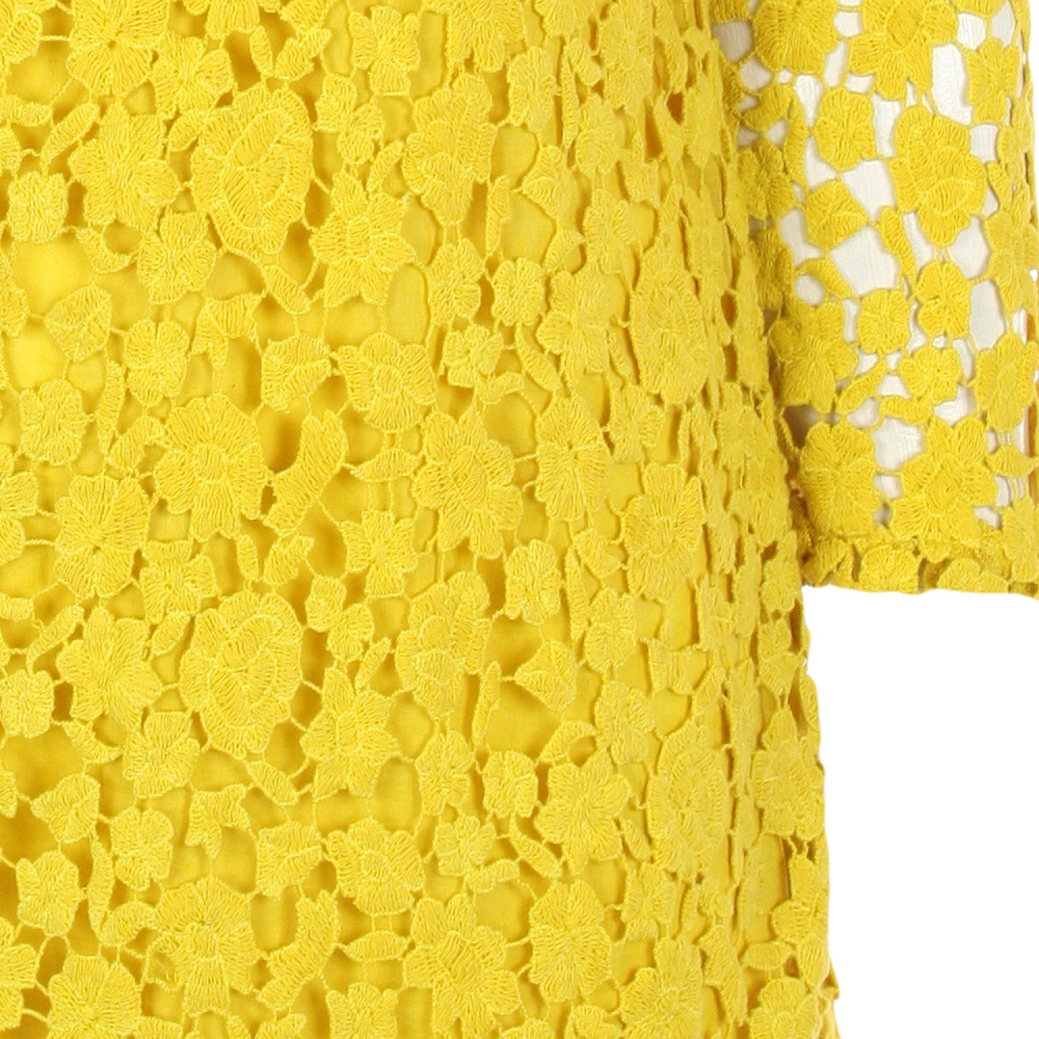 Yellow Crochet Lace Dress